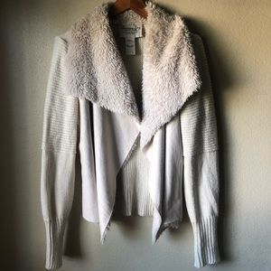 American Rag cardigan sweater with faux fur